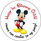 12 mickey mouse stickers Birthday Party 25 Inch Personalized