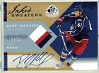 Rick Nash Columbus Rangers Auto Game Used Jersey Patch 2007-08 SP Inked Sweaters
