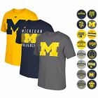 MICHIGAN WOLVERINES ADIDAS GRAPHIC GO TO T SHIRT COLLECTION BY ADIDAS MENS