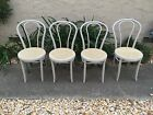 4 Thonet Bentwood Cane Seat Cafe/Dining Chairs Painted Gray NEW cane seat Rare