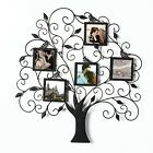 Adeco Brown Black Decorative Tree Style Collage Iron Metal Wall Family Tree
