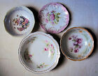 Lot of 4 antique floral hand painted dishes