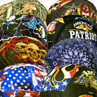 Paisley Bandana Black Red Head Wrap Skull Cap Doo Capsmith Du Mens Do Biker Rag