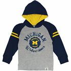 Michigan Wolverines Preschool Raglan Pullover Hoodie Gray