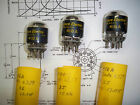 3 Matched Date Code Vintage Western Electric 418A Tubes