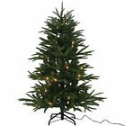 NEW Green Christmas Tree 4.5  Tall LED Clear White Lights Artificial Fir PINE
