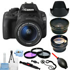 Canon EOS Rebel SL1 100D DSLR Camera with 18 55mm Lens Black PRO BUNDLE