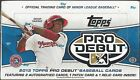 2013 Topps Pro Debut Baseball Factory Sealed Hobby Box -4 Hits Per Box (2 Autos)