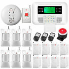 Wireless Cellular GSM Home Security Alarm System Kit Smoke Detector Panic Button
