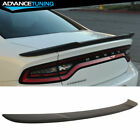 Fits 15-18 Dodge Charger SRT8 Hellcat Flush Mount Trunk Spoiler Matte Black ABS