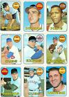 1969 Topps Lot of 50 Different Cards - EXMT