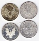 4 UNITED STATES 999 AMERICAN SILVER 1 OUNCE EAGLES MELT VALUE BULLION