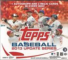 2013 Topps Update Series Baseball Factory Sealed HTA Jumbo Pack Hobby Box