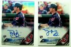 2016 Topps Chrome Tyler Naquin Auto Refractor & Regular Auto Rookie Cards