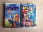 Disney's Lion King & Toy Story VHS Movie LOT In Clam Shell