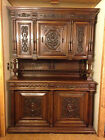 1800's ANTIQUE FRENCH RENAISSANCE EUROPEAN CARVED WALNUT CABINET