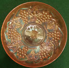 Antique Marigold, Carnival Glass Fruit/Appetizer Bowl With  Frosted Handle