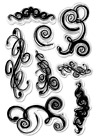 Forever in Time Clear Cling Rubber Stamp Flourishes and Festive Swirls