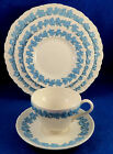Wedgwood: TWELVE Queensware Lavender on cream Bread and Butter Plates Estate