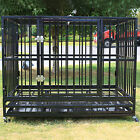 42 Heavy Duty Dog Cage Crate Kennel Metal Pet Playpen Portable w Tray Black NEW
