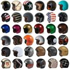 New TORC T50 Open Face 3 4 Motorcycle Helmet DOT Cafe Racer Retro Vintage