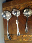 Collection 3 Antique vintage silver plated dessert ladles sauce spoons