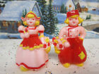 Girl Salt Pepper Shakers PINK RED PERFECT! 1100