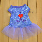 Chihuahua Kitten Dress Small Dog Pet Cat Skirt I LOVE MY Mommy Clothes Costume
