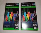 2 Boxes Gemmy LED Lightshow Starry Night Multicolor 70 Count Flickering Light