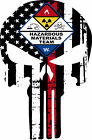 Thin Red Line Punisher- Firefighter Hazmat Team Decal - Various sizes Free Ship