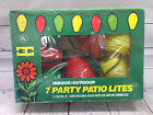 Vintage Lantern String Lights Patio NOS Blow Mold Plastic Beehive Camping Party