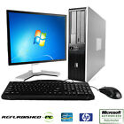 CLEARANCE Fast HP Compaq Desktop WINDOWS 7 or XP Computer PC Core 2 Duo +LCD