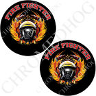 Medallion Decal Inserts for Harley Brembo Front Brake Calipers - Fire Fighter T