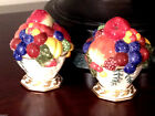 Fitz and Floyd Venezia Salt and Pepper Set, Fine Hand Painted China