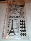 Tim Holtz Visual Artistry Collection FRENCH MARKET Clear Acrylic Stamps