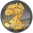 Golden Enigma American Eagle 1oz silver coin USA 2016 Ruthenium plated