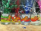 Garfield & Odie Collectible {Complete 4} Glass Set By Jim Davis From McDonald's