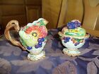 Fitz and Floyd~HARVEST HERITAGE~THANKSGIVING~FALL BOUNTY~Sugar Bowl and Creamer