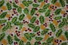 Christmas Holiday Print Craft Apparel Quilt Fabric Mistletoe By The Yd 45 12147
