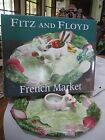 New Retired Fitz & Floyd French Market Serving Tray Pig Platter Sectioned Server