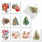 M6734XSG Christmas Quilling Images 10 Assorted Christmas Note Cards