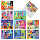 M6717OCB Grateful Graffiti 10 Assorted Blank All Occasion Note Cards Envelopes