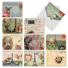 M2355OCB Parisian Cards 10 Assorted Blank All Occasion Note Cards Envelopes