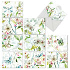 M6592OCB Dogwood Days 10 Assorted Blank All Occasion Note Cards With Envelopes