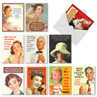 M6619OCB Retro Toasts 10 Assorted Blank All Occasion Note Cards With Envelopes