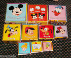 RARE Vintage 1950s 60s Disney Childrens Nesting Blocks Cardboard Mickey Mouse