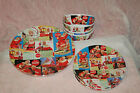 Coca Cola Santa 12 piece Melamine Set by Sakura 2002 EUC