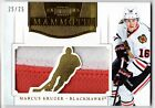 Marcus Kruger 2011-12 Panini Dominion Mammoth 2 Color PATCH Blackhawks #'d 25 25