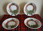 NWT CERAMICA CUORE MADE in ITALY 4 CHRISTMAS HOLIDAY PASTA SALAD SERVING BOWLS