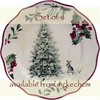 Sets of 6 Better Homes  Gardens Christmas Salad Plates Tree Design